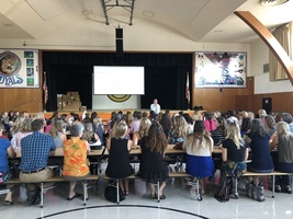 Superintendent Holtom welcomes staff to the 18-19 School Year