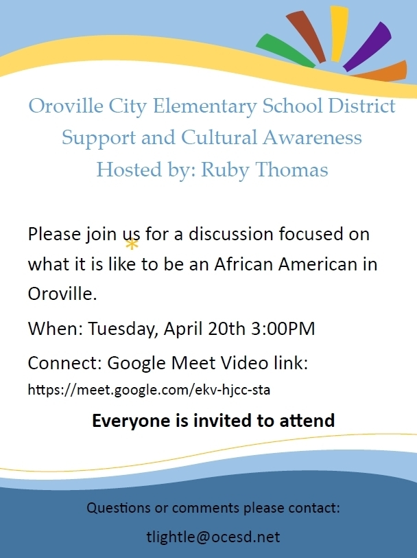 Support and Cultural Awareness Webinar April 20 at 3 PM
