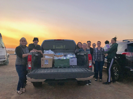 OCESD staff donate, pack and deliver much needed hygiene packs to shelters