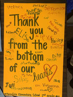 Paradise Elementary brings 'Thank You' letters to OCESD