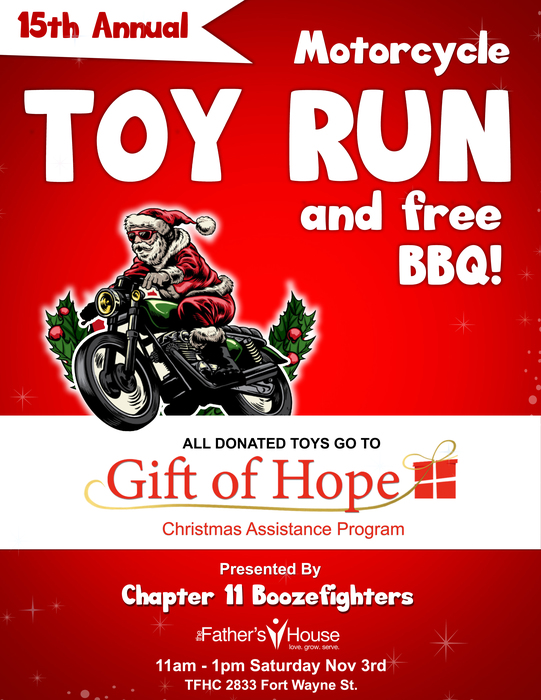 Flyer for Toy Run and Free Barbecue