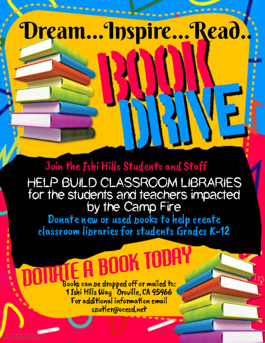 Ishi Book Drive poster