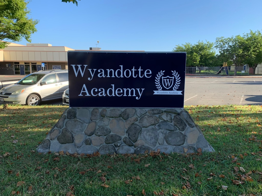 New Wyandotte Academy Sign