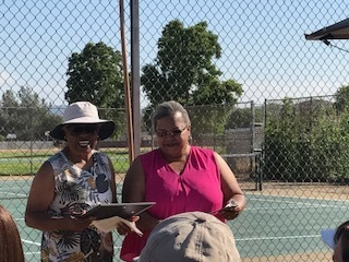 Cissy Smith and Honoree, Tennis Champion Roz Bell-King