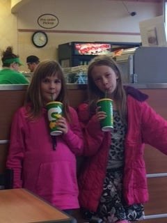 Kids at Subway