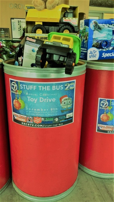 Stuff the bus toy barrel
