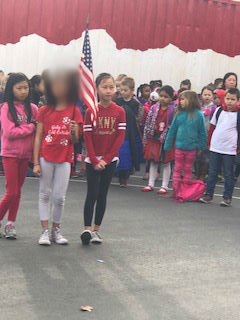 Wednesday whole-school Flag Salute at Wyandotte Academy