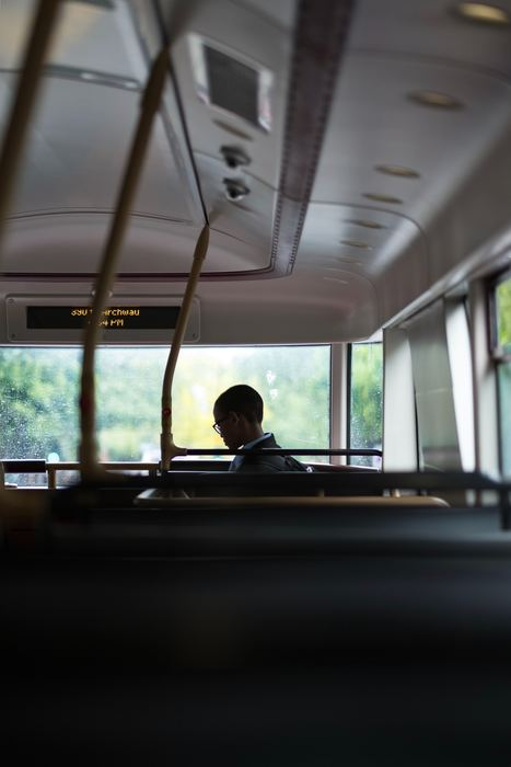 Student riding bus.  Photo by Craig Whitehead on Unsplash