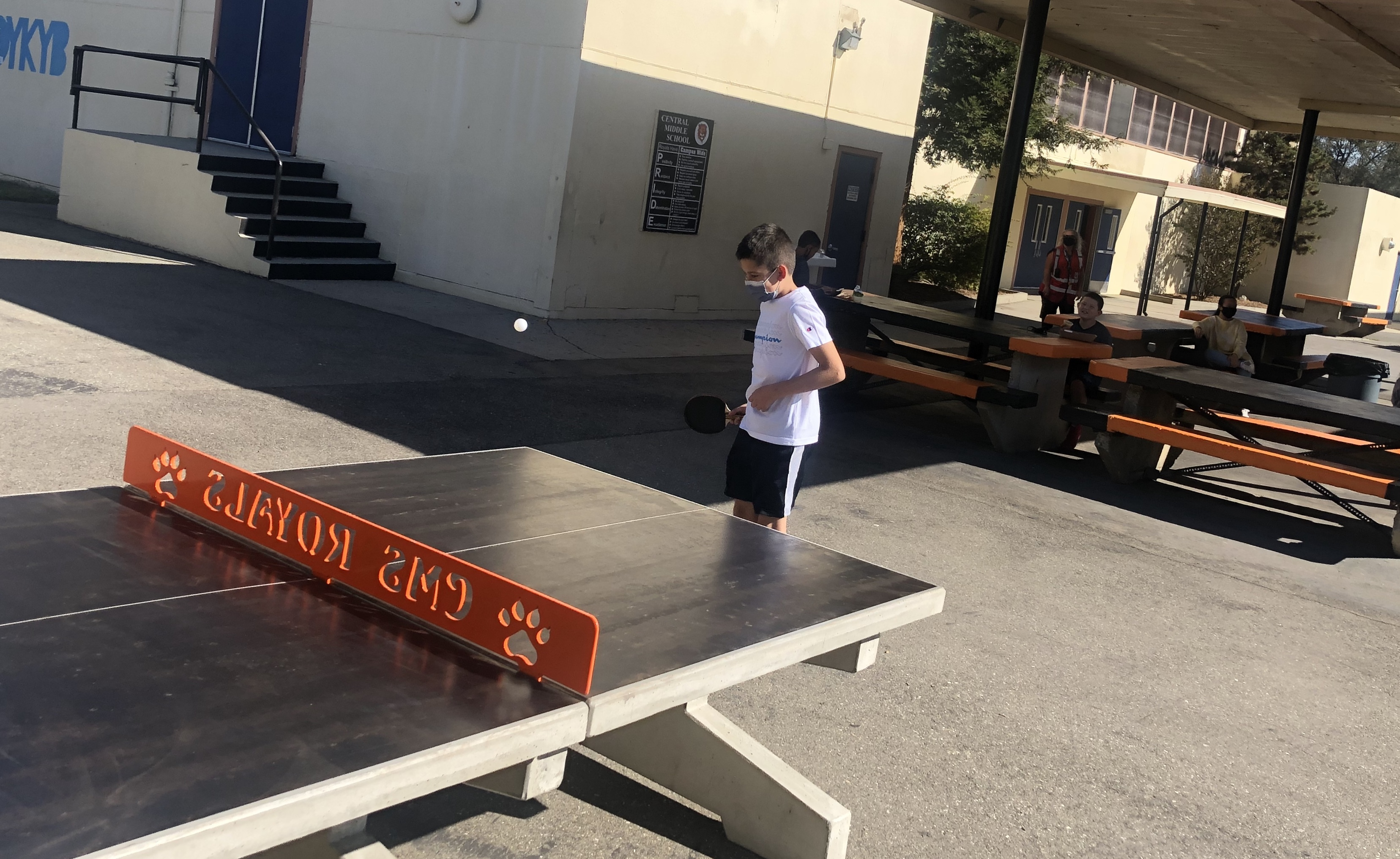 New outside table tennis games at Central!