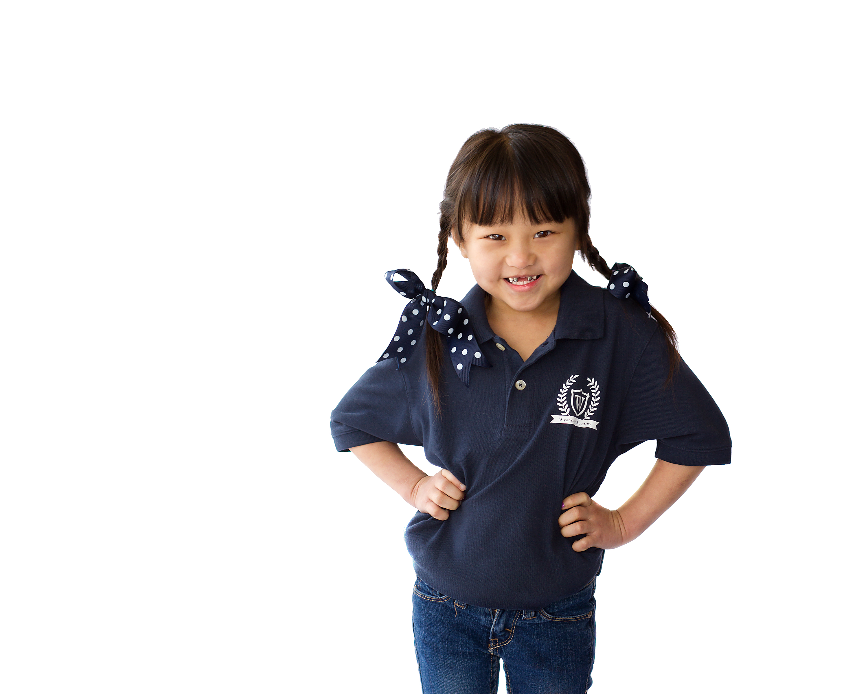 Student with Wyandotte Academy Polo Shirt