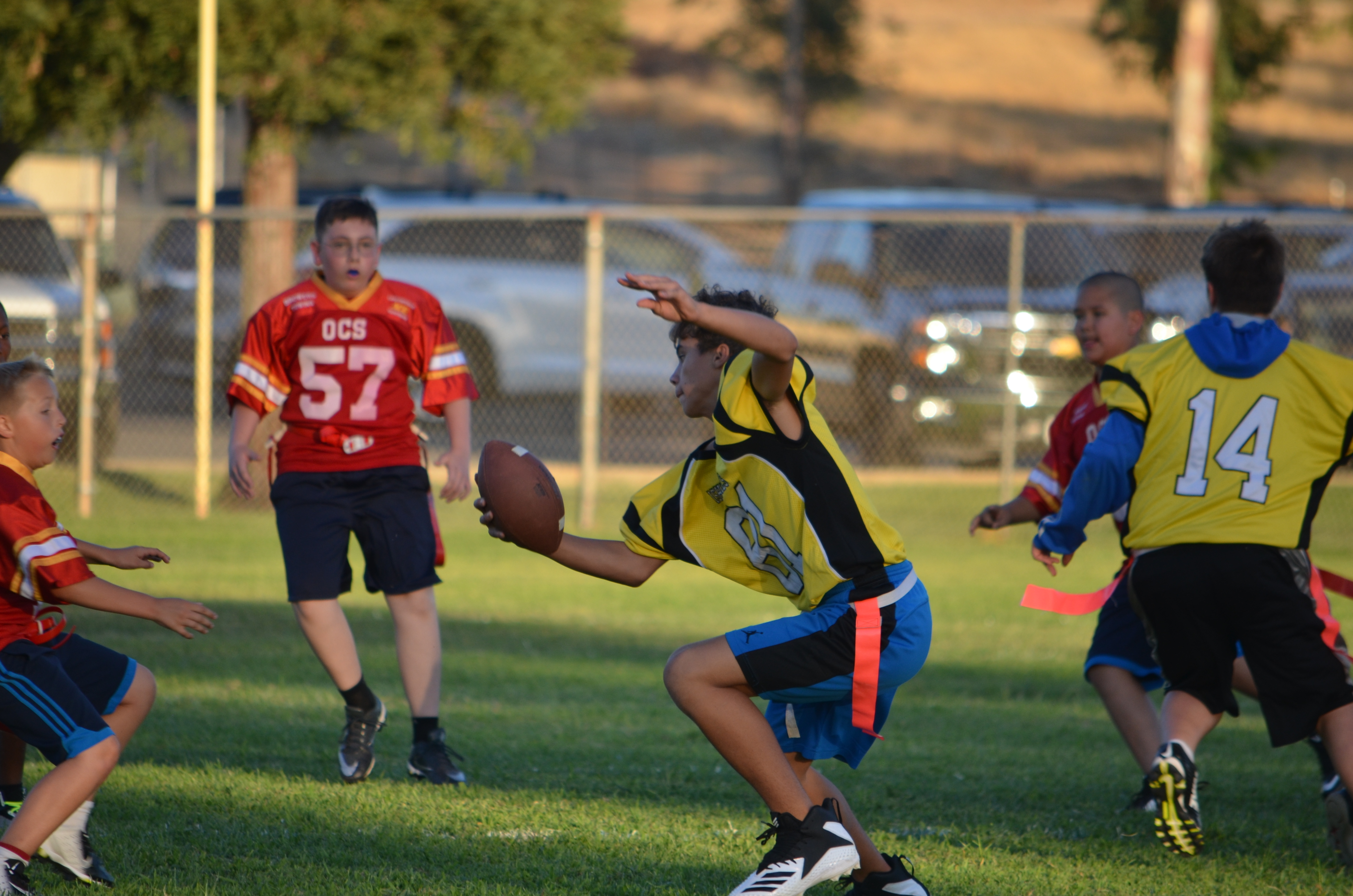 Great Moves on the flag football team
