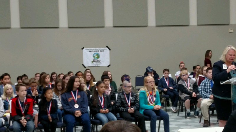 Students at the Spelling Bee